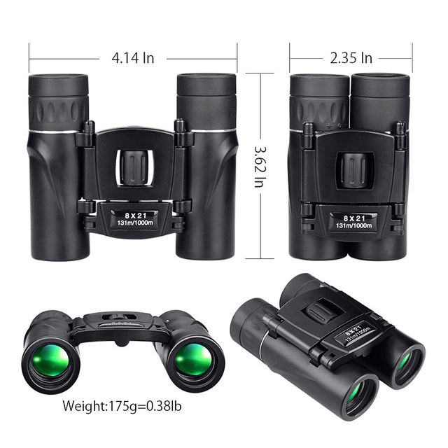 APEXEL 8x21 Compact Zoom Binoculars Long Range 3000m Folding HD Powerful Mini Telescope BAK4 FMC Optics Hunting Sports 1