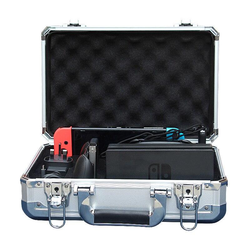 Boîtier de rangement en aluminium pour Nintendo Switch Nitendo commutateur Console de voyage sac de rangement accessoires de commutateur étui de Protection