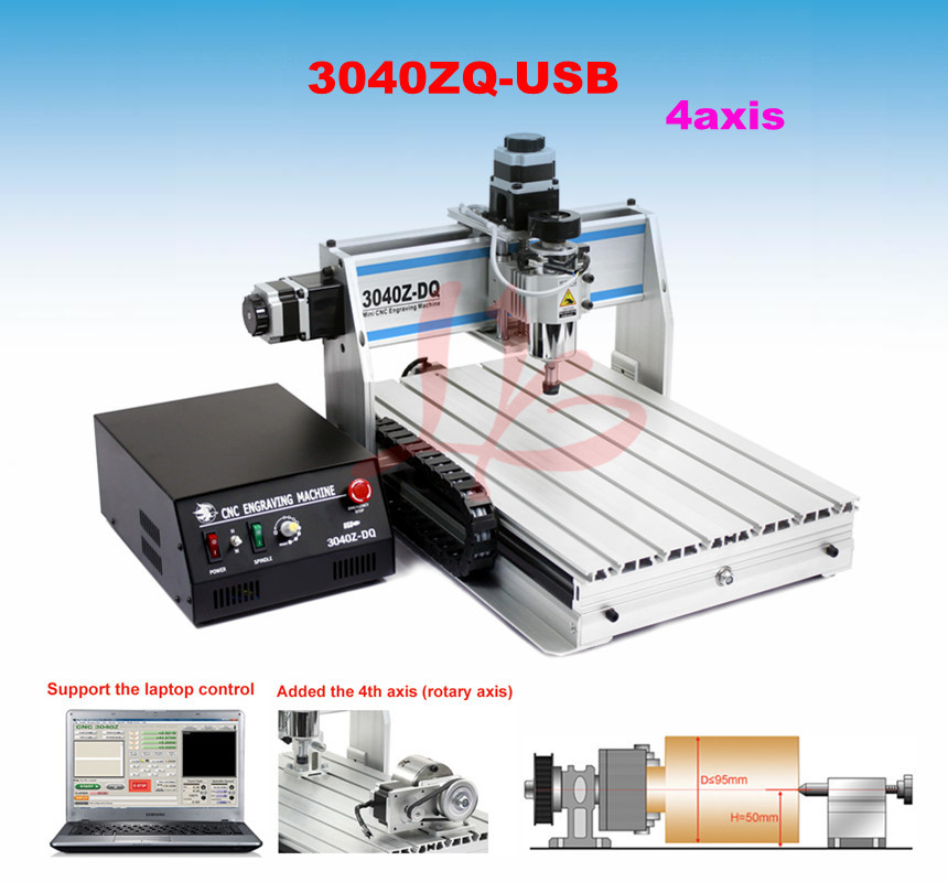3040Z-DQ 300W USB 4axis CNC drilling milling machine фотобарабан panasonic dq dcd100a7 dq dcd100a7