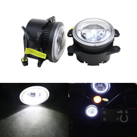 White Led Fog Light Assembly W/ Guide Daytime Running DRL Halo Rings For Jeep Wrangle Grand Cherokee For Dodge Charger Journey