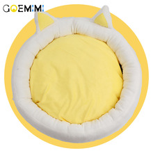 2019 Cat Warm Bed Velvet Comfortable Ear shape kennel For Puppy cama gato Lovely Soft Cave House Dog