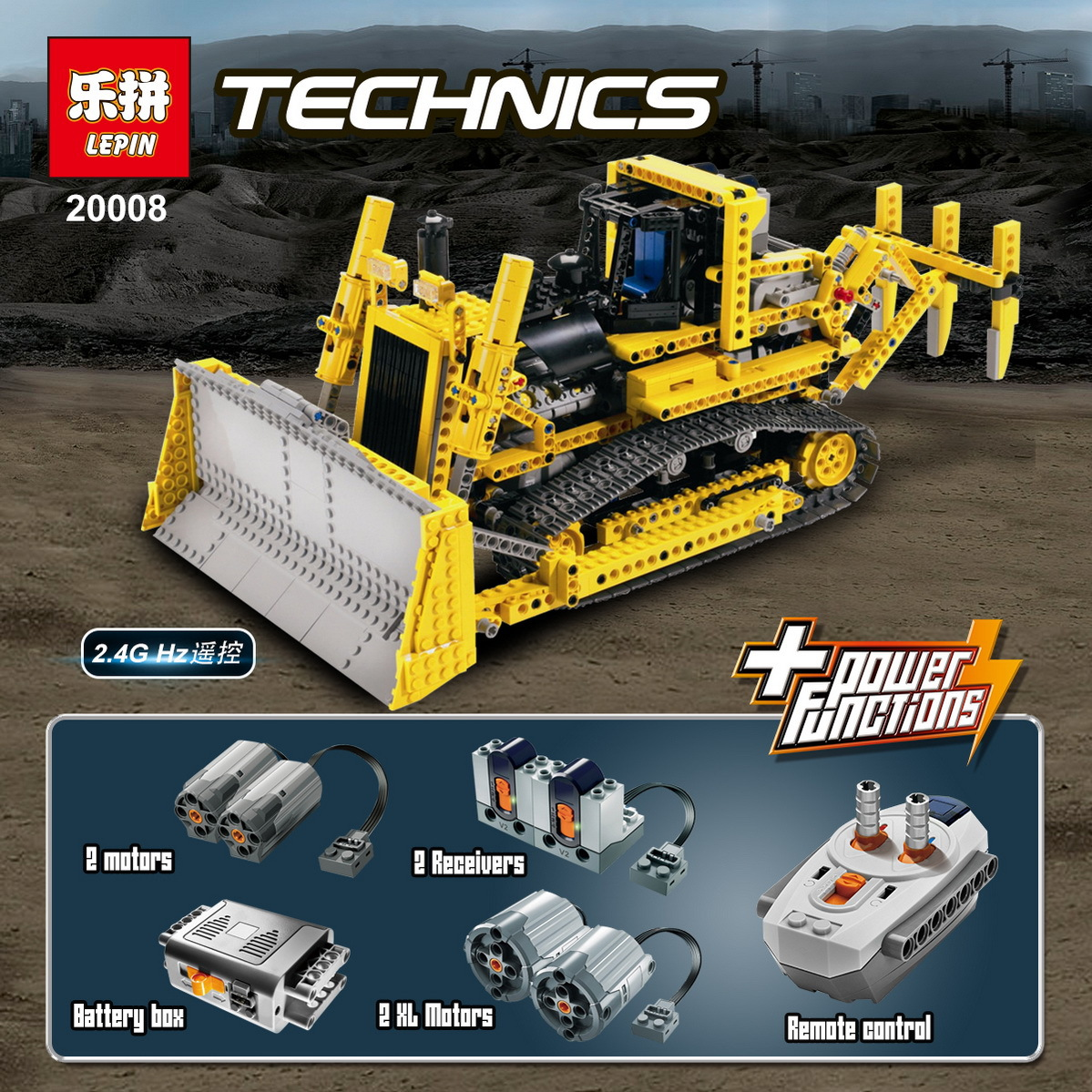 DHL LEPIN 20008 Technic Series Remote Contro the bulldozer Model Assembling Building block Bricks kits Compatible