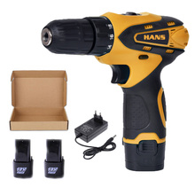 12V Cordless power hand Drill 2 Batteries rotary tool parafusadeira hammer electric magnetic impact drills machine saw for wood 128 188 208f brushless cordless wrench impact socket tool with 2 batteries 15000 20000 30000mah hand drill power tools