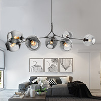 Modern Chandeliers Lighting Ball Pendant Lamp Gold Metal Hanging Lamp Living Room Dinning Room Light Fixtures