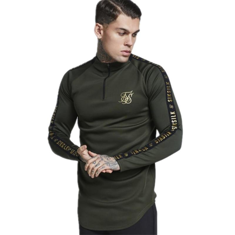 YEMEKE New Fashion Mens Stretch TShirt Solid Color turtleneck high-elastic Long Sleeve   T     Shirts   Men Slim Casual MensT-  Shirt