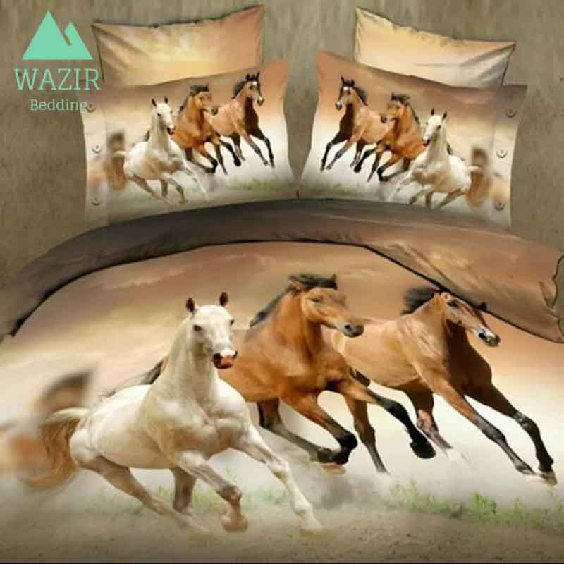 WAZIR 3D printing horse bedding set Bedroom decoration Home textiles duvet cover pillowcase bed sheet bedclothes Home & LivingWAZIR 3D printing horse bedding set Bedroom decoration Home textiles duvet cover pillowcase bed sheet bedclothes Home & Living