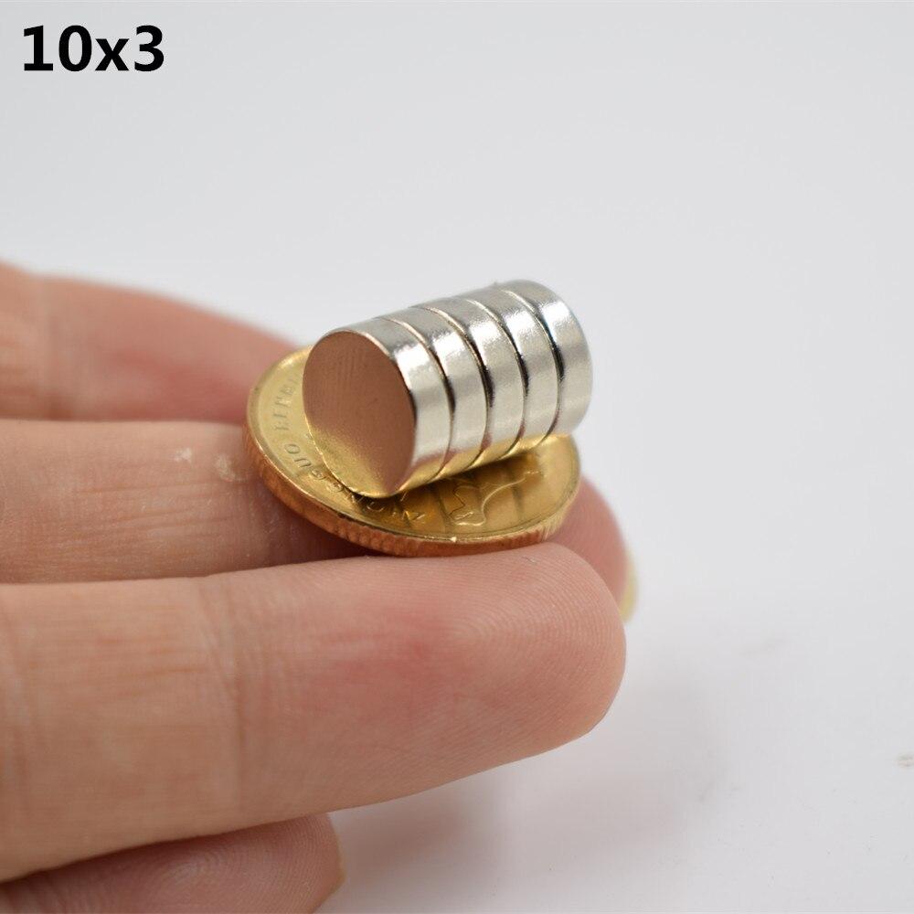 10 stücke Neodym magnet 20x3 Seltenen Erden kleine Starke Runde permanent 20*3mm kühlschrank Elektromagnet NdFeB nickel magnet blatt
