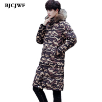 BJCJWF Men S Canada Long Winter Duck Down Jacket Camouflage Thicken Parka Tmall Veste Doudoune Homme