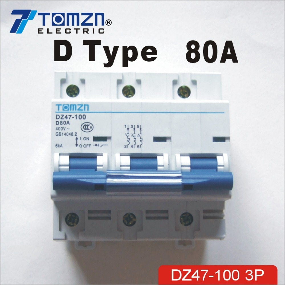 3 P 80A 240 V/415 V 50 HZ/60 HZ disjoncteur MCB sp3 P 80A 240 V/415 V 50 HZ/60 HZ disjoncteur MCB sp