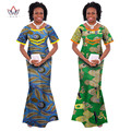 Women African Clothing Two Pieces Set Top & Skirt Sets Suits Women Winter Dress Women Plus Size 6XL BRW WY148