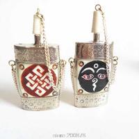 BYH031 Tibet Enfiye şişesi Metal Kapaklı Yak Kemik Snuff şişeler kolye Tibet Nepal sanat colletibles, Buda Göz, Sonsuz knot