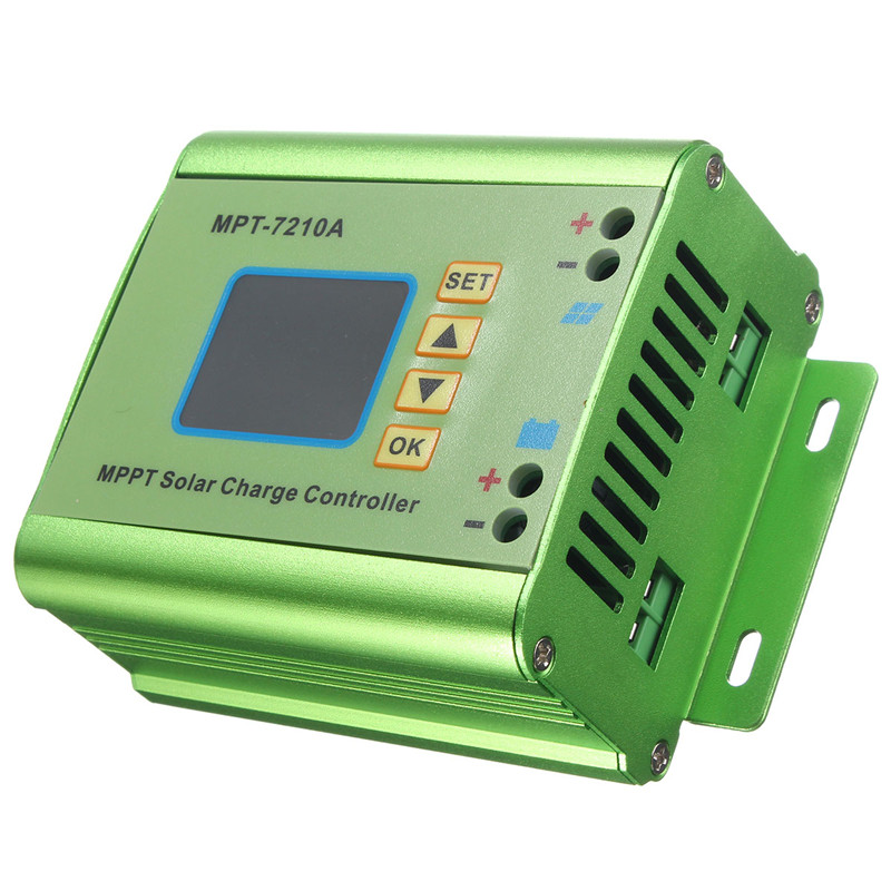 24/36/48/60/72V 10A DC-DC Boost LCD MPPT Solar Regulator Charge Controller 7210A