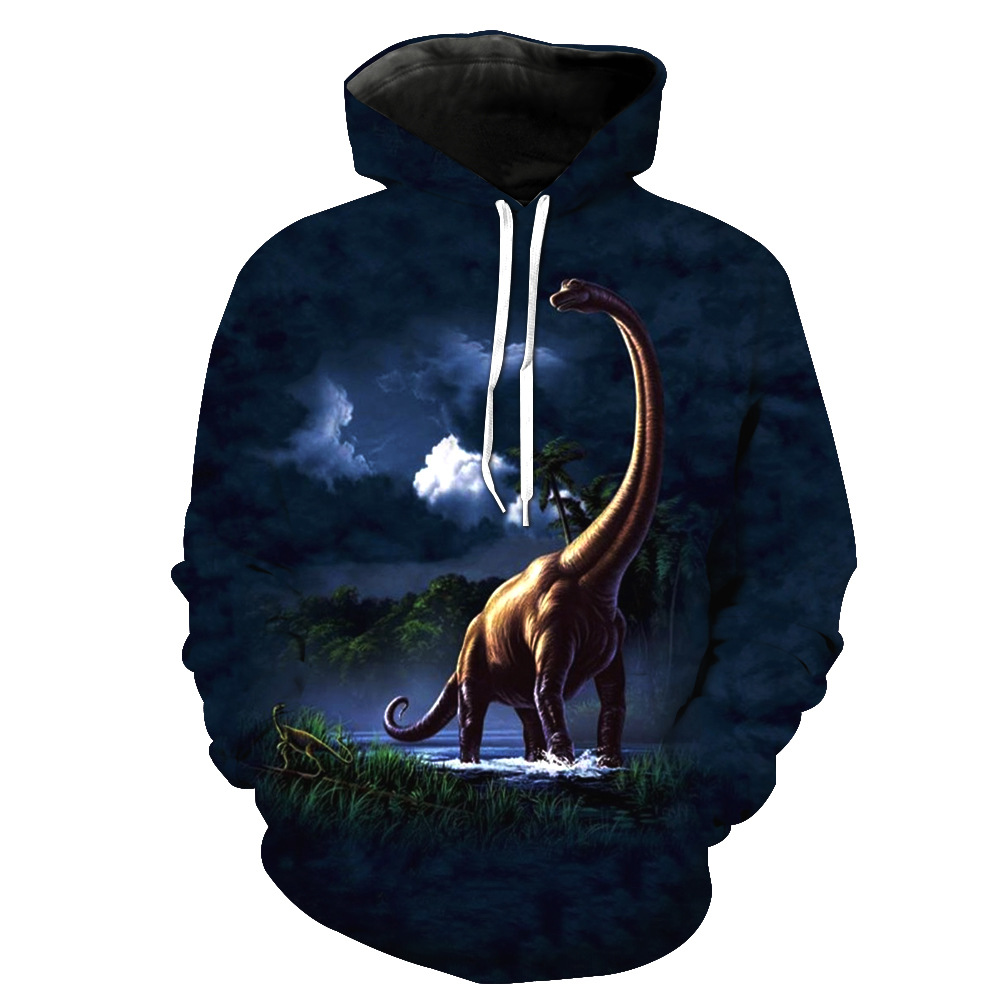 Men's Clothing Aggressive Harajuku 3d Print Dinosaur Jackets Men/women Hip Hop Streetwear Sweatshirt Hoodies 2019 Spring Boys Cool Blue Tracksuits Clothes Durable Service