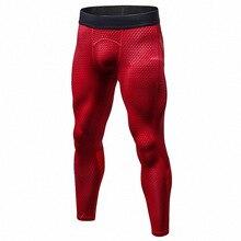 BINTUOSHI Men Yoga Pants Elastic Fitness Sport Leggings Workout Running Tights Mesh Patchwork Jogging Trousers