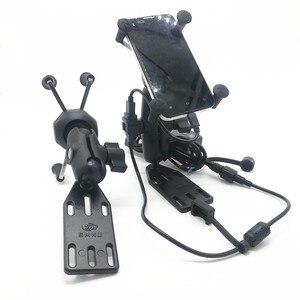 Image 2 - Per Suzuki Burgman 125 400 650 CIELO ONDA 650 AN400 Frame di Navigazione GPS di Navigazione Del Telefono Mobile Staffa di Accessori Moto