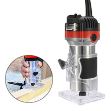 "220V 530W Electric Hand Trimmer Wood Edge 1/4"" Wood Router Trimmer Router Tools for Woodworking Engraving Drilling Tools"