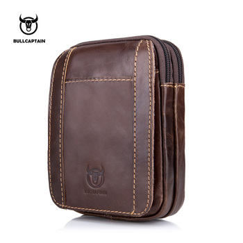 BULLCAPTAIN 2019 Männer fanny packs Echtes Leder Vintage Reise Handy Tasche kausalen Taille Taschen Kleine Taille packs fanny tasche 013