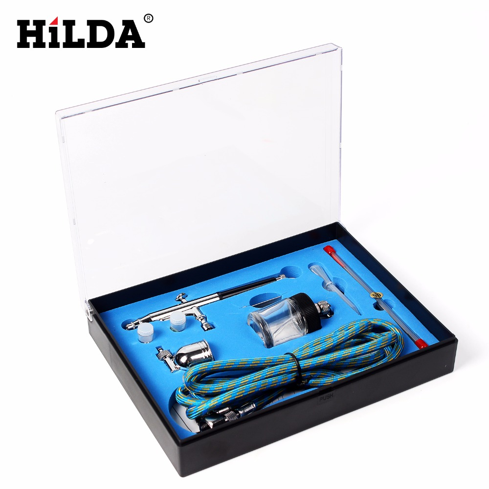 Portable 0 2mm 0 3mm 0 5mm Needles Nozzles Dual Action Airbrush Air Compressor Kit Craft