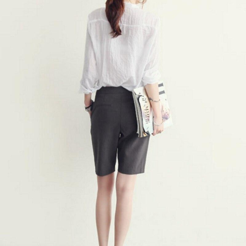 Las Azul gris Delgada Señoras Blanco Oficina Mujer Mujeres Camisetas Superior Ropa blanco Camisa De Manga Suave Larga Blusa aYqZYg