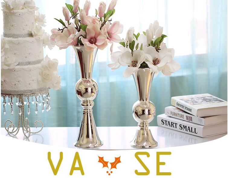 1057 1058 European Style Metal Vase Table Size Simplicity Home Decoration