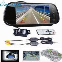 New Arrival 7 LCD Mirror Monitor Wireless Car Reverse Rear View Backup Camera Night Vision Jn16