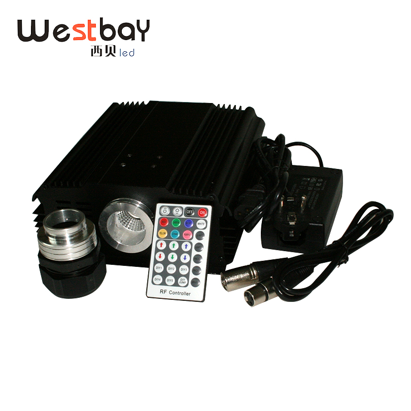Westbay 90W LED DMX Optical Fiber Engine AC85-260V Input DMX512 Compatible RF RGB High Power Light for All Kinds Fiber Optics автомагнитола sony mex gs820bt usb mp3 cd fm 1din 4x100вт черный