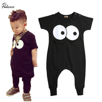 Big Eyes Toddler Newborn Infant Baby Boy Girl Facial Printing Pocket Expression Romper Jumpsuit Clothes Outfits 0-3 Ys