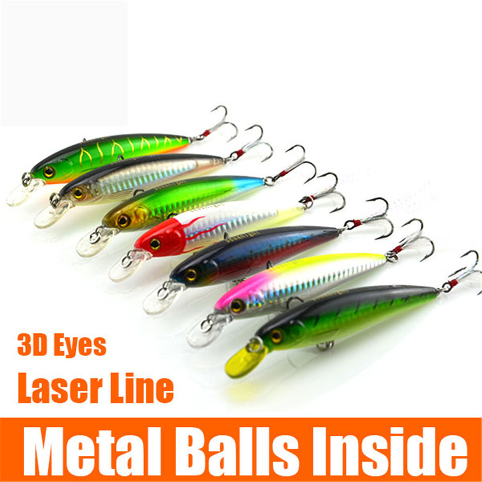 Wholesale 7pcs luminous plastic fishing lure set rocky for Bulk fishing lures