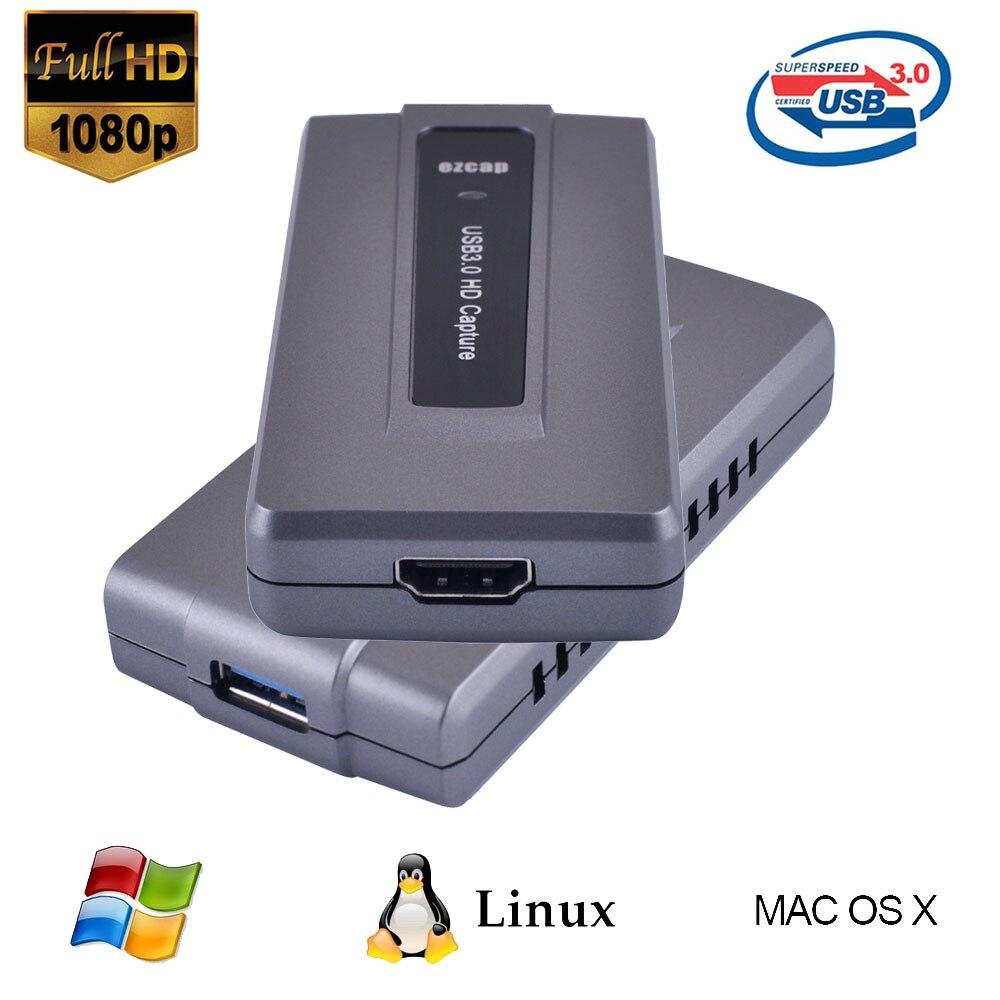 Ezcap287 HDMI carte de Capture vidéo USB3.0 HD jeu enregistreur vidéo dispositif 1080 P 60fps en direct Streaming Support OBS Studio Windows Mac