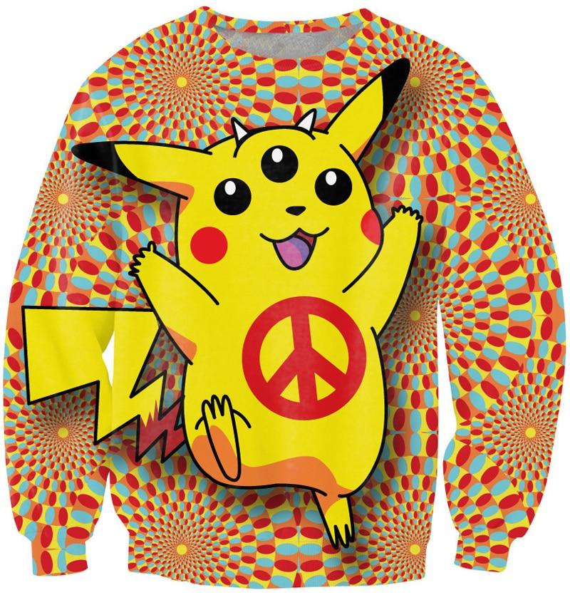 Autumn Harajuku style hot cartoon Pokemon print cute sweatshirts women/men pullover hoodies japanese anime casual sweats