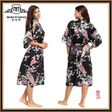 Summer Sexy Silk Nightgown Sleepshirts Women Fifth-sleeves Plus Size Sleepwear Lounge Casual Satin Silky Nightwear Female Dress
