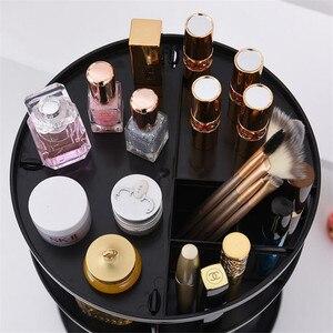 Image 3 - Plastic 360 Rotating Makeup Organizers Comestic Storage Box Organizer Women Desk Make Up Organizer Bathroom Makeup Holder