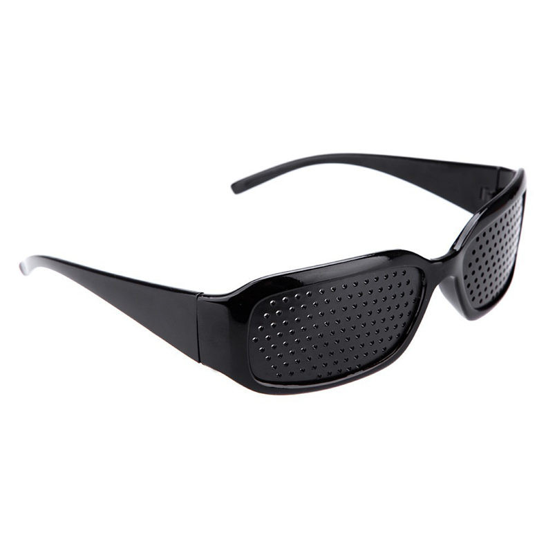 YOOSKE Black Pinhole Sunglasses Anti-fatigue Vision Care Pin Hole Microporous Glasses Eye Exercise Eyesight Improve Anti-myopia