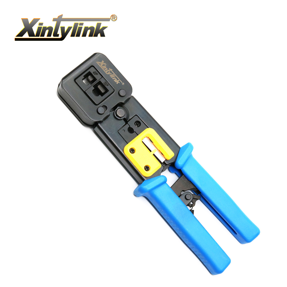 xintylink EZ rj45 crimper hand network tools pliers rj12 cat5 cat6 8p8c Cable Stripper pressing clamp tongs clip multi function cncob 8p8c rj45 cable crimper ethernet perforated connector crimping tools multi function network tools cable clamps