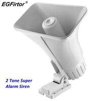 DC 12V Wire 30 Watt Siren Dual Tone Indoor/Outdoor 120Db Sounder Super Alarm Horn Security Alarm Siren