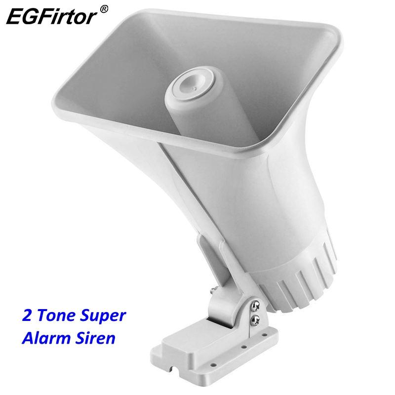 dc 12 v fio 30 watt sirene dupla tom interno exterior 120db sounder super alarme chifre