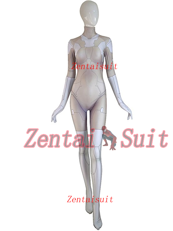 <font><b>Ghost</b></font> <font><b>in</b></font> <font><b>the</b></font> <font><b>Shell</b></font> Suit Major <font><b>Costume</b></font> 3D Print Lycra Spandex Cosplay Halloween Zentai Suit For Adult/Kids/Custom Made image