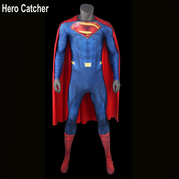Hero Catcher Top Quality Embossed Logo Superman Costume Foam Padding Logo Superman Suit Man of Steel Superman Cosplay Costume