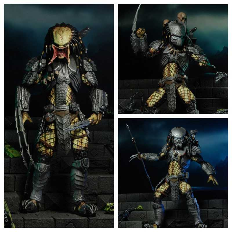 NECA AVP Aliens VS Predator Jong Bloed Predator & Serpent Hunter & Elder Predator PVC Action Figure Collectible Model Speelgoed Gift
