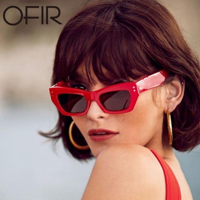 OFIR Marka Plac Okulary Kobiety Mężczyźni 2018 Moda Czarny Biały różowy Czerwony Panie Prostokąt Cat Oczu Okulary Kobiety Marka UV400