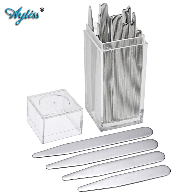 "Ayliss 2""-3"" 8 Different Sets Stainless Steel Collar Stays For BF Business Man Shirt Bone Stiffeners Inserts Father's Day Gift"