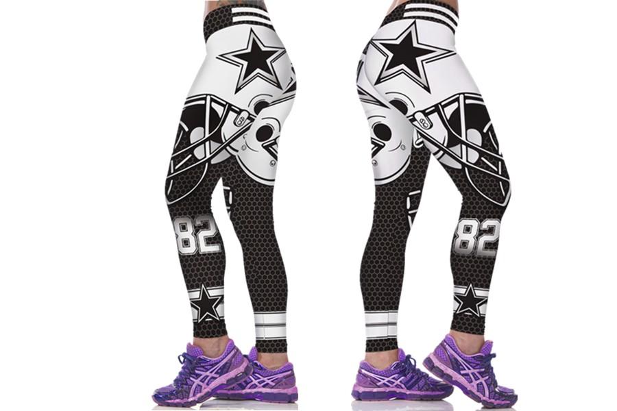 Fashion Active NFL Print Women's Sports Leggings