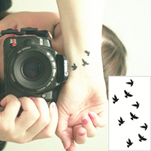Black Swallow Flash Tattoo Hand Sticker 10.5x6cm Small Waterproof Henna Beauty Temporary Body Tattoo Sticker Art FREE SHIPPING
