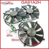 Free Shipping GA91A2H 12V 0.35A 95mm 72x72x72x72mm 4Pin Fan For ZOTAC GTX1080TI 1080TI Graphics Card Fan