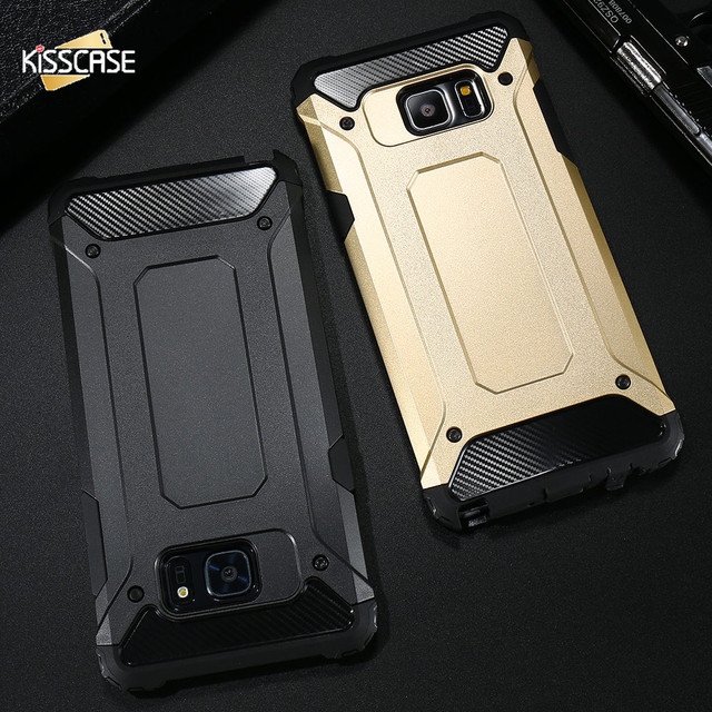 c436313298d KISSCASE Dual Layer Shockproof Phone Case For Samsung Galaxy Note 8 S8 S8 Plus  S7 S6 Edge S5 Note 5 J5 PC + Silicone Armor Case