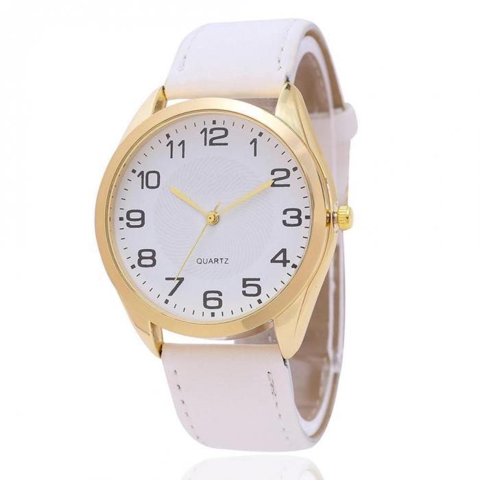 5 Colors Women Casual Sport Quartz Watch PU Leather Band Round  Simple Dial Clock Wristwatch For Lady Women Gift  LL@17 quartz watch with small diamond dots indicate leather watch band hearts pattern dial for women