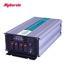 Car Power inverter 12v 110v 1000w Universal Socket solar power MKP1000-121 off grid pure sine wave voltage converter makerele цены