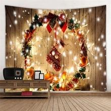 Wall Hanging Tapestry Christmas Decoration Lamp Socks Wood Cloth Dorm Home Headboard Wallpaper Blanket Carpet