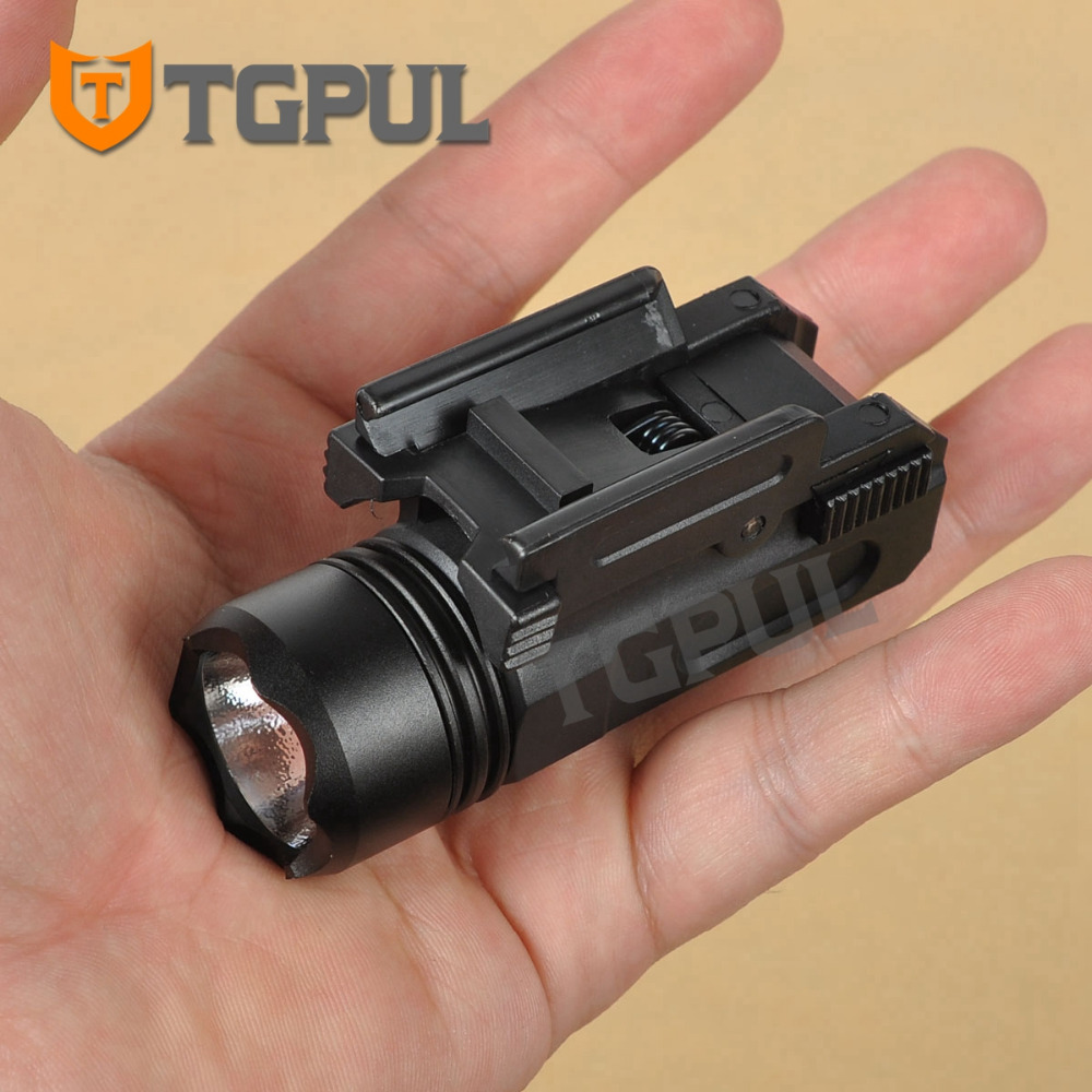 TGPUL Airsoft Mini Pistol Light QD Quick Detach Handgun Flashlight LED Rifle Gun Torch For 20mm Rail Glock 17 19 18C 24 US STOCK