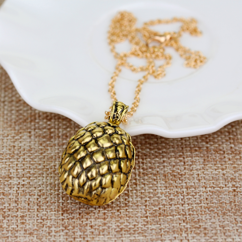 Hot Movies Game Of Thrones Dragon Egg Pendant Necklace Daenerys Targaryen Bronze Egg Nec ...